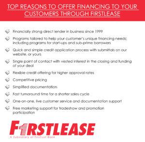 Top reasons to offer financing through Firstlease